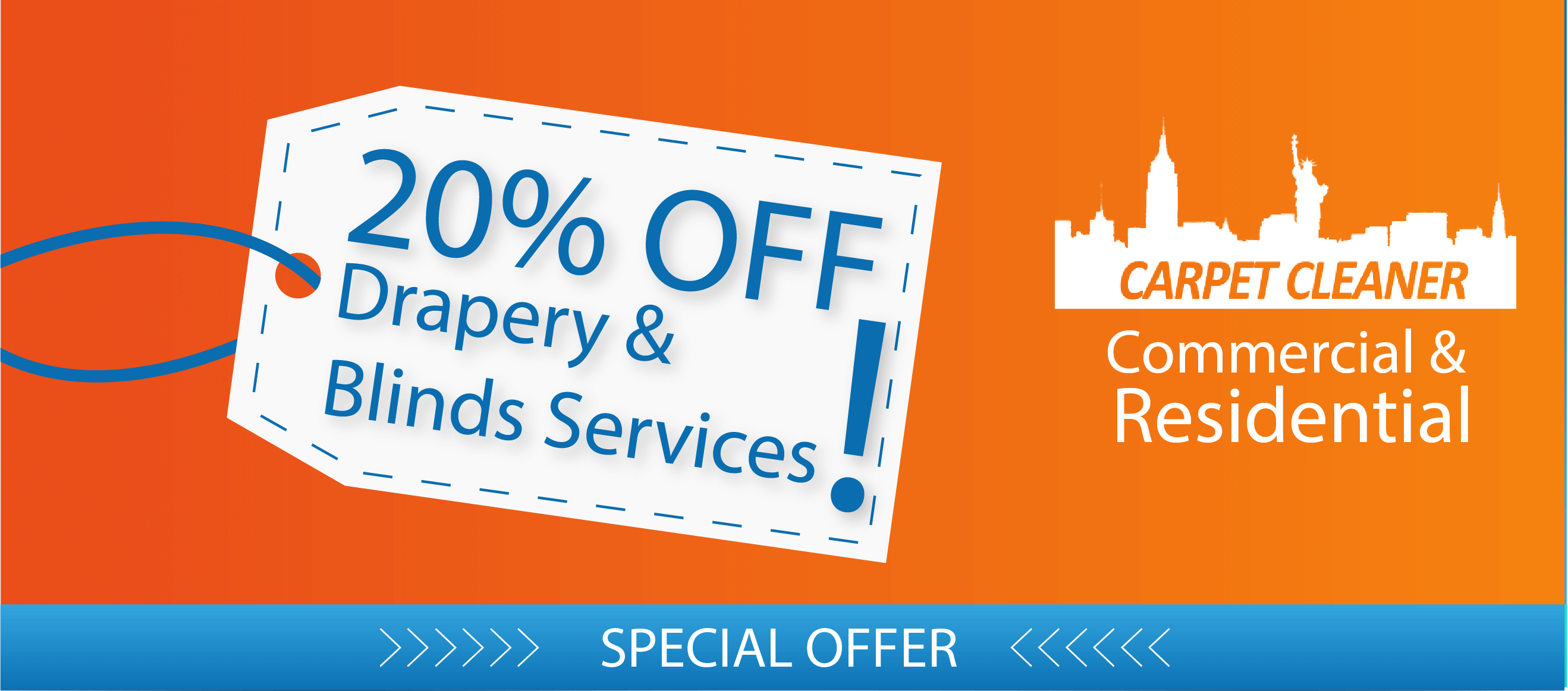 Drapery Cleaning and Blinds Treatment Services Special offer